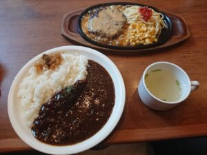 3種のソースが選べるハンバーグ+カレーセット(ふらんす亭ワカバウォーク店/埼玉県鶴ヶ島市)