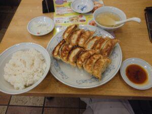 ダブル餃子定食(ぎょうざの満州坂戸にっさい店/埼玉県坂戸市)