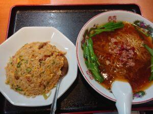 台湾ラーメン×炒飯のラーメンセット(台湾料理福賀/埼玉県坂戸市)